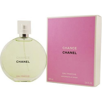 Chance Eau Fraiche by Chanel for Women, Eau De Toilette Spray, 3.4 Ounce