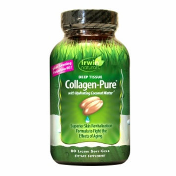 Irwin Naturals Deep Tissue Collagen-Pure with Hydrating Coconut Water, Softgels, 80 ea