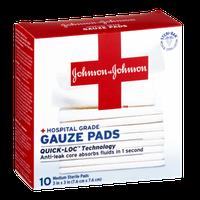 Johnson & Johnson Hospital Grade Gauze Pads - 10 CT