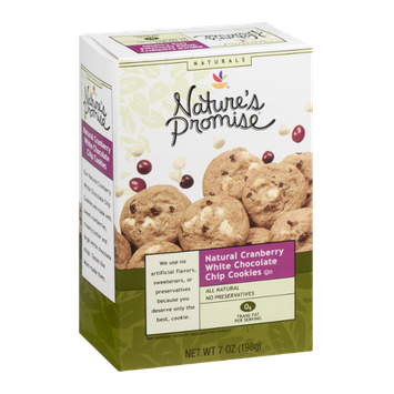Nature's Promise Cookies Natural Cranberry White Chocolate Chip