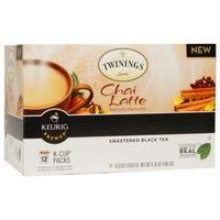 Twinings Sweetened Black Tea, Chai Latte, 12 ea
