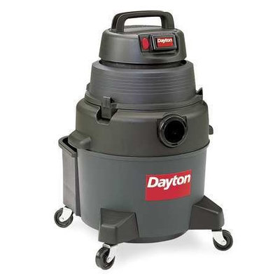 DAYTON 3UP78 Wet/Dry Vacuum, 4 HP, 8 gal, 120V