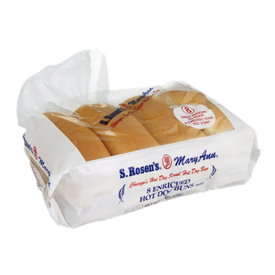 S. Rosen's Mary Ann Enriched Hot Dog Buns - 8 CT