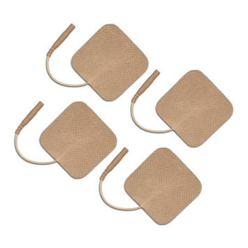 Current Solutions OTC TENS Electrodes 2x2 Square, Tan Mesh Backed - 16 Pack