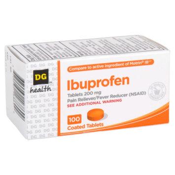DG Health Ibuprofen Coated Tablets - 100 ct