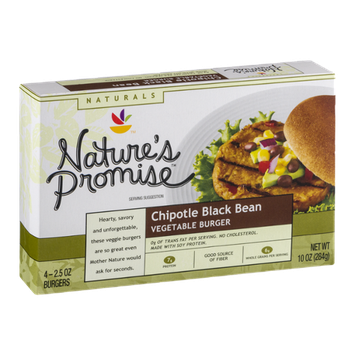 Nature's Promise Chipotle Black Bean Vegetable Burger - 4 CT
