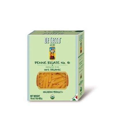 De Cecco Organic Pasta, Penne Rigate, 16-Ounce Boxes (Pack of 5)