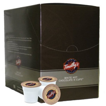Timothy's World Coffee, White Hot Chocolate, 22-Count K-Cups for Keurig Brewers (Pack of 2)