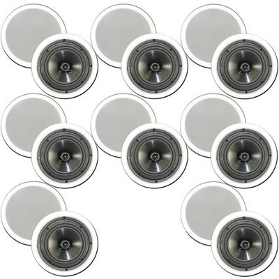 Theater Solutions 6.5 Inch In Ceiling Home Theater Contractor Series 2880 Watts 8 Pair Pack 8CS6C