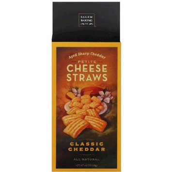 Salem Baking Co. Classic Cheddar Petite Cheese Straws, 4.5 oz, (Pack of 6)