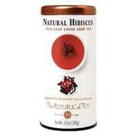 The Republic Of Tea Natural Hibiscus Full-Leaf, 3.5 Ounces/50 Cups
