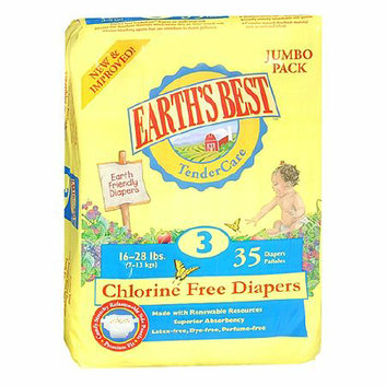 Earth's Best TenderCare Chlorine Free Diapers Size 3