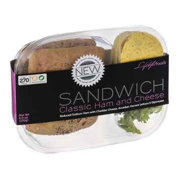 Lifestyle Foods Sandwich Classic Ham and Cheese