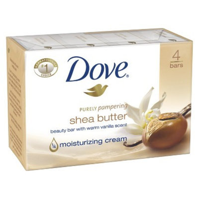 Dove Beauty Dove Shea Butter Bar Soap - 4 Bars