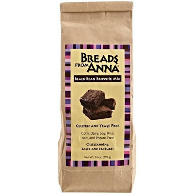 Breads from Anna, Gluten-Free Mix, Black Bean Brownie, 14-Ounce Package