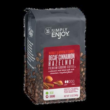 Simply Enjoy Premium Ground Coffee Decaf Cinnamon Hazelnut