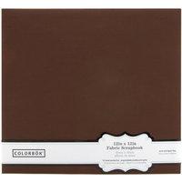 Colorbok Dark Brown Fabric Scrapbook Album, 12 by 12-Inch [Dark Brown]