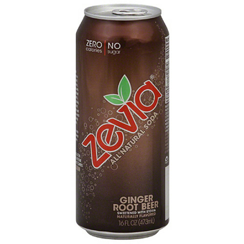 Zevia All Natural Ginger Root Beer Soda Soft Drink