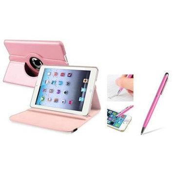 iPad Mini 3/2/1 Case, by Insten Light Pink Leather Case w/ Sleep Mode + 2in1 Stylus For iPad Mini 3 2 1