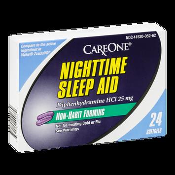 CareOne Nighttime Sleep Aid Softgels Non-Habit Forming - 24 CT