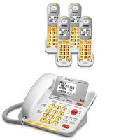 Uniden D3098-4 DECT 6.0 Amplified Corded/Cordless Phone w/ 3 Extra Han
