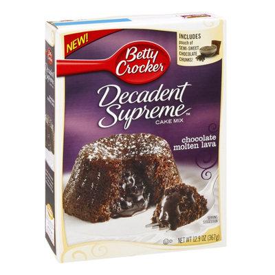 Betty Crocker Decadent Supreme Chocolate Molten Lava Cake Mix