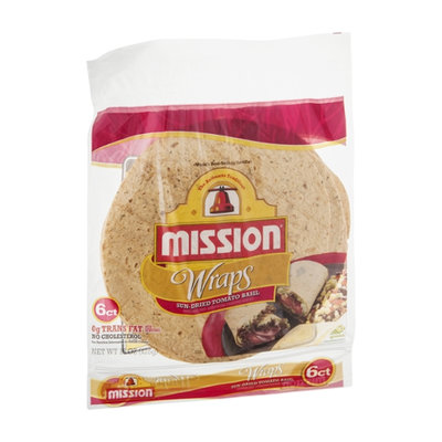 Mission Wraps Sun-Dried Tomato Basil - 6 CT