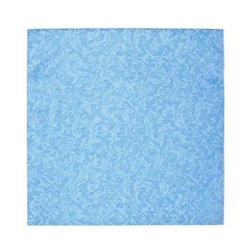King Zak Ind Lillian Tablesettings 24335 Blue Texture Beverage Napkin - 960 Per Case