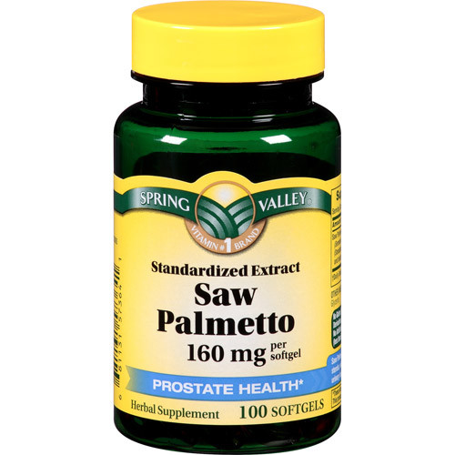 Spring Valley Standardized Extract Saw Palmetto Herbal Supplement Softgels, 160mg, 100 count