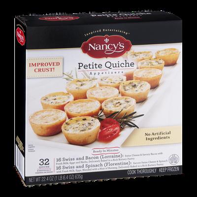 Nancy's Petite Quiche Appetizers - 32 CT