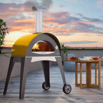 Alfa Pizza Forninox Brick Hearth Wood-Fired Outdoor Pizza Oven FORNO CIAO - GREEN