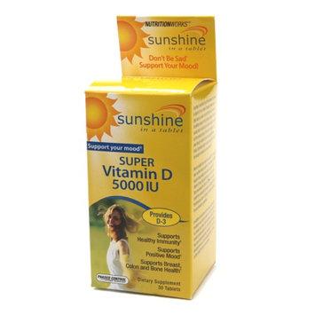 NutritionWorks Sunshine in a tablet Super Vitamin D 5000 IU