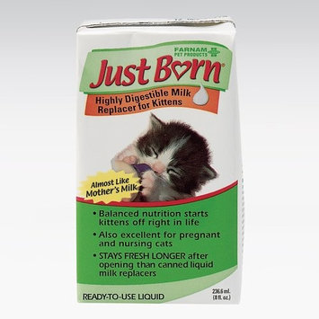 Just Born Milk Replacer Liquid for Kittens, 8 oz