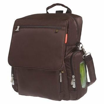 Fisher-Price Fastfinder Deluxe Convertible Backpack Diaper Bag - Brown