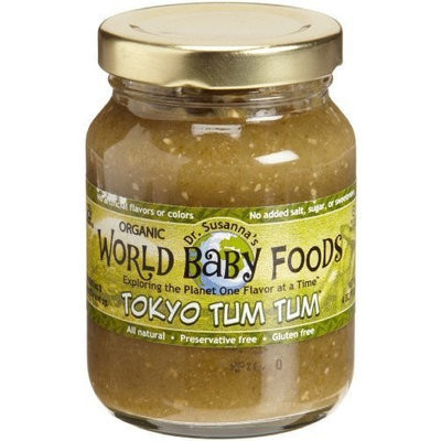 Dr. Susanna's World Baby Foods Tokyo Tum Tum, Organic, 4-Ounce Glass Jars (Pack of 12)