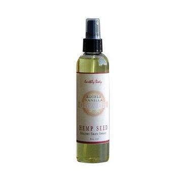 Earthly Body Edible Glow Oil With Hemp Seed Spray, Vanilla, 8 Ounce