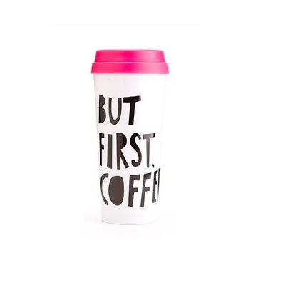 Bando Ban.do 40735 Hot Stuff Thermal Mug, But First Coffee [1, Casual]