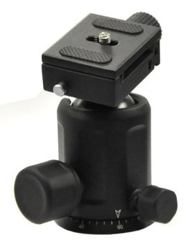 Opteka TH40 Magnesium Alloy Ball Head with Quick Release Plate for Tripods and Monopods