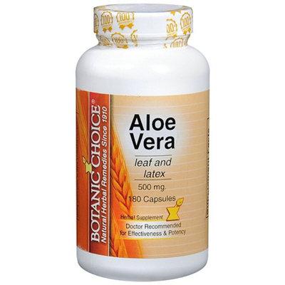 Botanic Choice Aloe Vera 500 mg Herbal Supplement Capsules