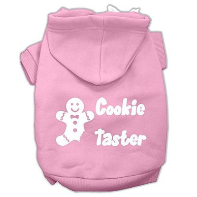 Mirage Pet Products Cookie Taster Screen Print Pet Hoodies Light Pink Size XXXL (20)