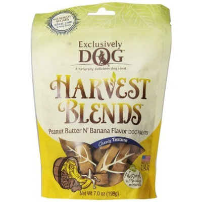 Exclusively Dog Cookies Exclusively Pet Harvest Blends Peanut Butter N Banana Flavored Treats, 7-Ounce