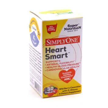 Super Nutrition - SimplyOne Heart Smart ADK2 Wild Berry with D-Ribose - 30 Chewable Tablets