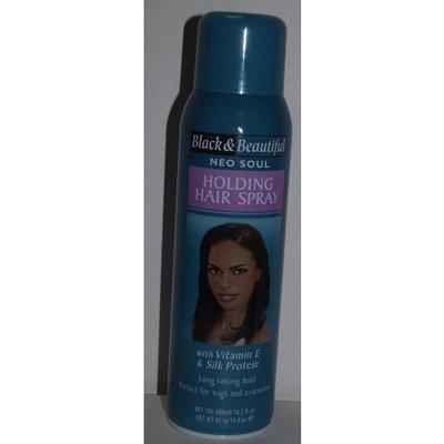 Black & Beautiful Neo Soul Holding Hair Spray 16.2 Fl Oz with Vitamin E & Silk Protein