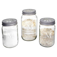 Cathy's Concepts Personalized Mason Jar Sand Ceremony Set with Letter M