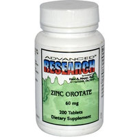 Nutrient Carriers Zinc Orotate 60 mg 200 Tabs