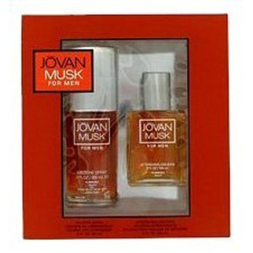 Jovan Musk By Jovan For Men. Gift Set ( Cologne Spray 3.0-Ounces & Aftershave/ Cologne Splash 2.0-Ounces )