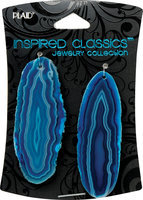 Plaid 491316 Inspired Classic Geodes 2-Pkg-Turquoise