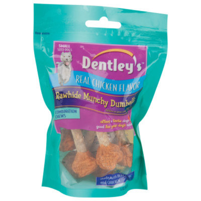 Dentley's Rawhide Munchy Dumbbells