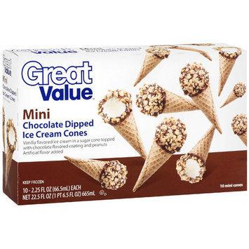 Great Value Mini Chocolate Dipped Ice Cream Cones, 22.5 oz