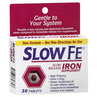 Slow Fe Slow Release Iron, Tablets, 30 ct.
